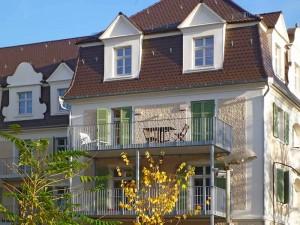 Fassade mit Lüftungssystem - Altbau