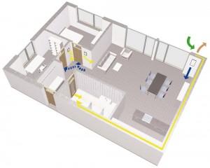 Wohnraumlüftung in 3-Zimmerwohnung