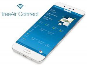 WLAN-Smartphone-Steuerung für freeAir-Lüftungsgerät